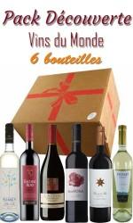Pack découverte Vin du Monde 6 bts