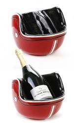 Porte bouteille Casque Moto rouge