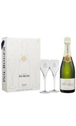 Coffret 2 flutes - Champagne Pol Roger Brut Réserve
