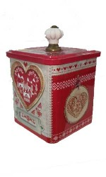 Boite Collector Coeur Rouge galettes beurre-sel 95grs