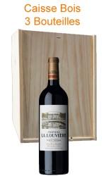 Caisse bois de 3 : Château La Louvière rouge