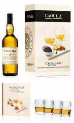 Coffret Caol ila 12 ans Single Malt + 4 verres
