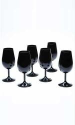 6 Verres Cristallin Type INAO noir 21 Cl