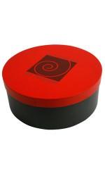 Boîte à chapeau SPIRALE rouge/noir