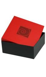 Boîte carrée SPIRALE rouge/noir