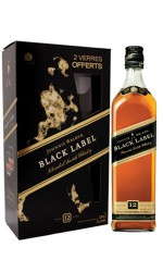 Coffret J.Walker Black Label 12 ans + 2 verres