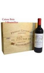 Caisse bois de 3 : Château Rochemorin rouge 2005