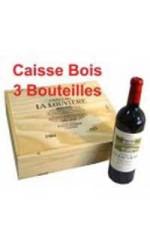 Caisse bois de 3 : Château La Louvière rouge 2009