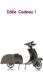 Porte bouteille Scooter métal