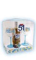 Coffret Piscine Pastis 51 + 2 verres + bec verseur