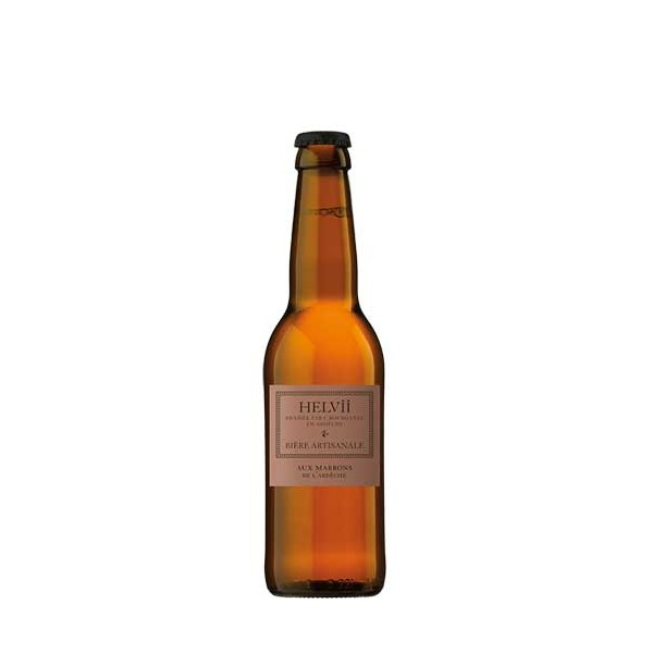 Bière Marron d'Ardèche ambrée 5° 33cl Helvii