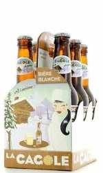 """Pack de 6 Bières Cagole 33cl """" La Blanche """" 4.5 %vol"""