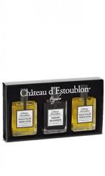 Trio 2 Huiles olive + 1 Vinaigre Estoublon 3x15ml