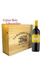 Caisse bois de 3 : Bastide Dauzac rouge