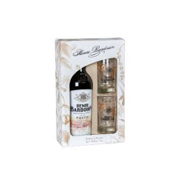 Coffret Pastis Bardouin 70cl + 2 verres sérégraphiés